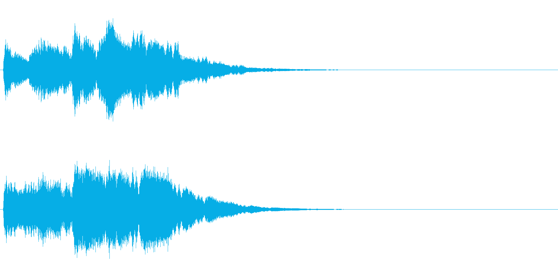 キラキラリーン/クリスタル音スロー上昇音の再生済みの波形