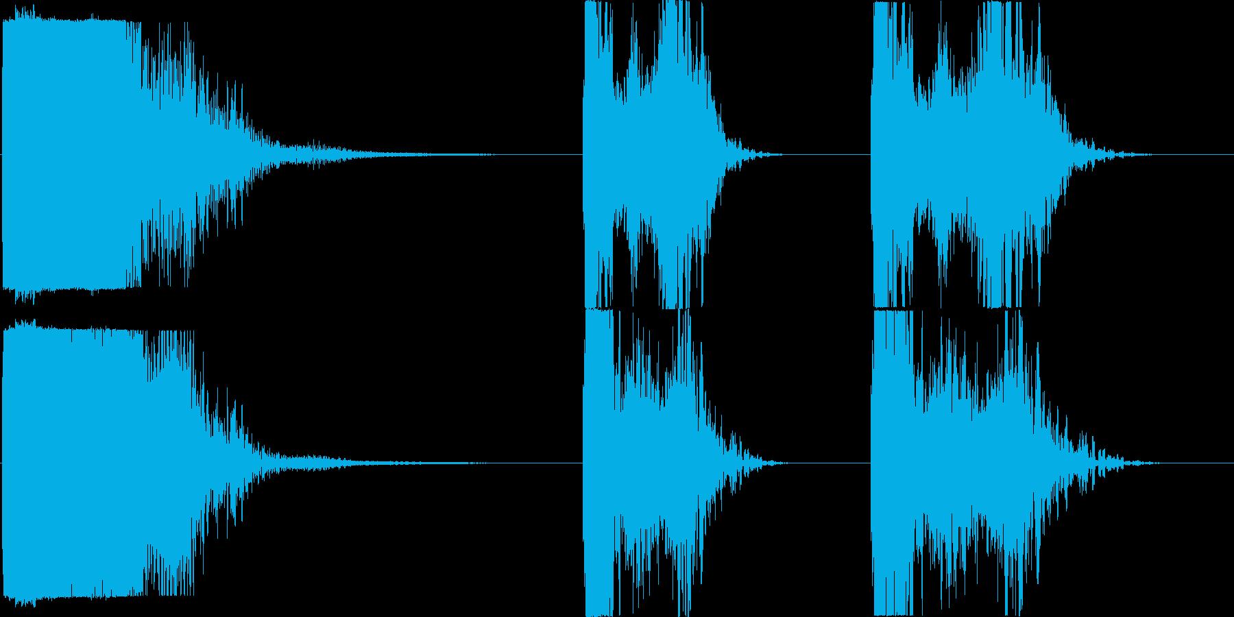 宇宙爆発爆発、3つのバージョン、宇...の再生済みの波形