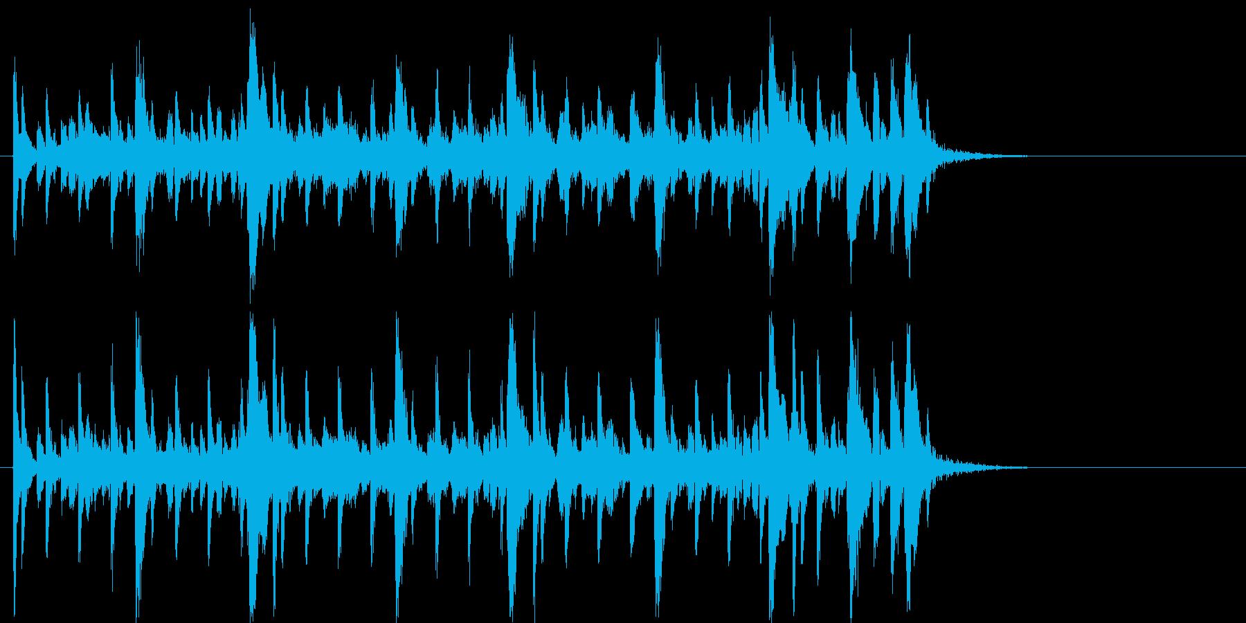 クールでシンプルで軽快なロックジングルの再生済みの波形
