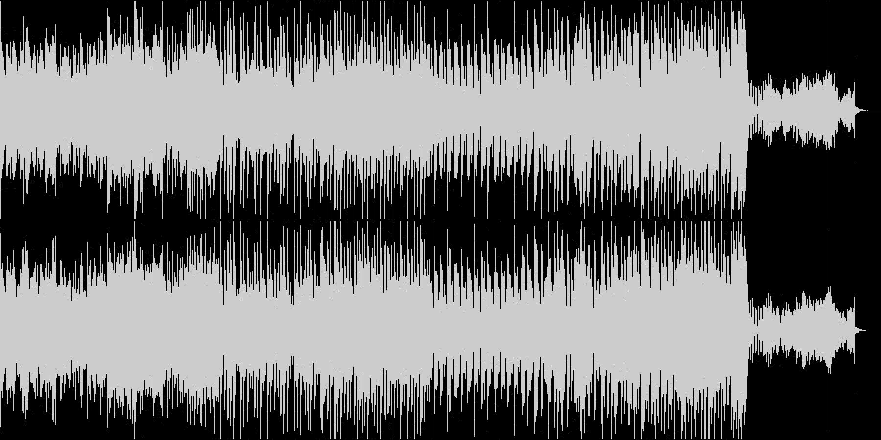 癖のあるEDMの未再生の波形