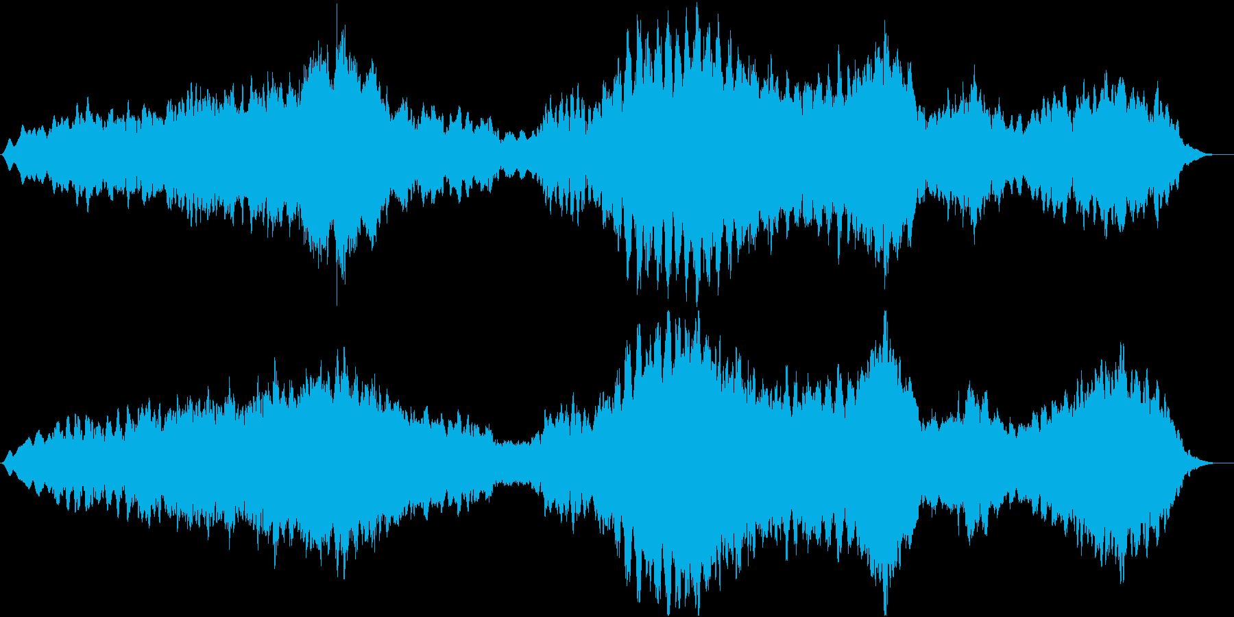 日の出 壮大な景色のBGMの再生済みの波形