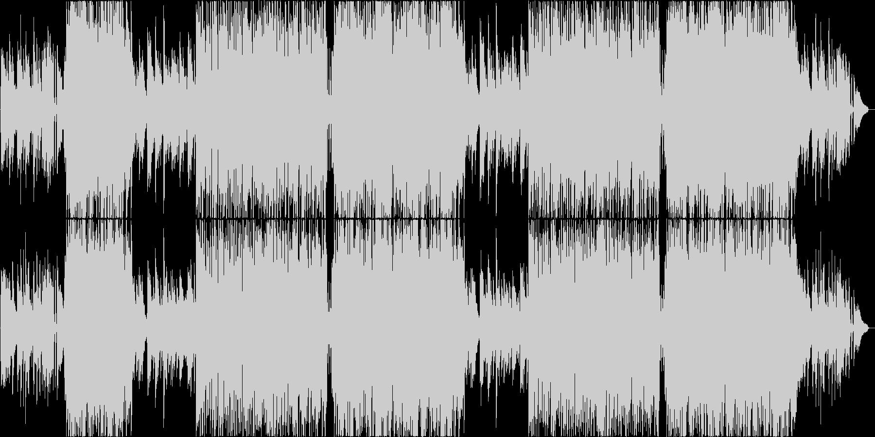 アコースティックでポジティブな4つ打ちの未再生の波形