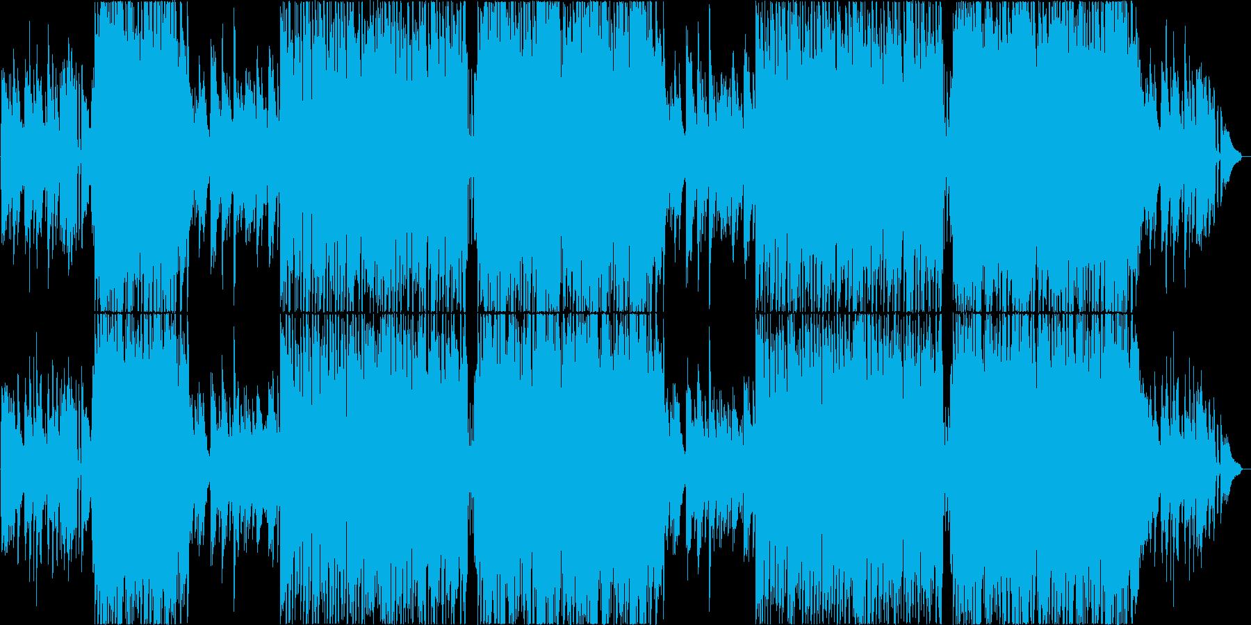 アコースティックでポジティブな4つ打ちの再生済みの波形