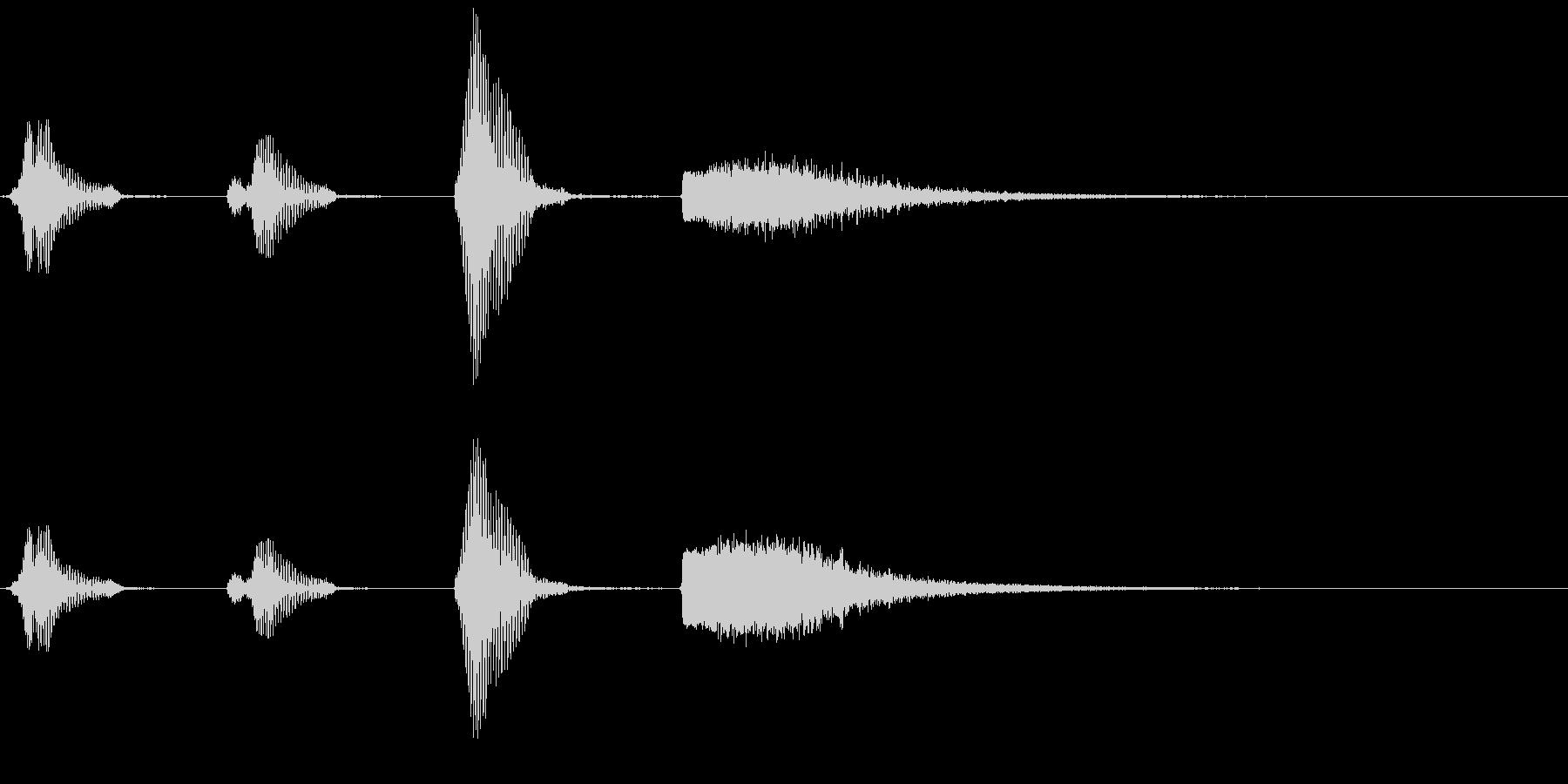 カウントダウン~3・2・1・バキューン~の未再生の波形