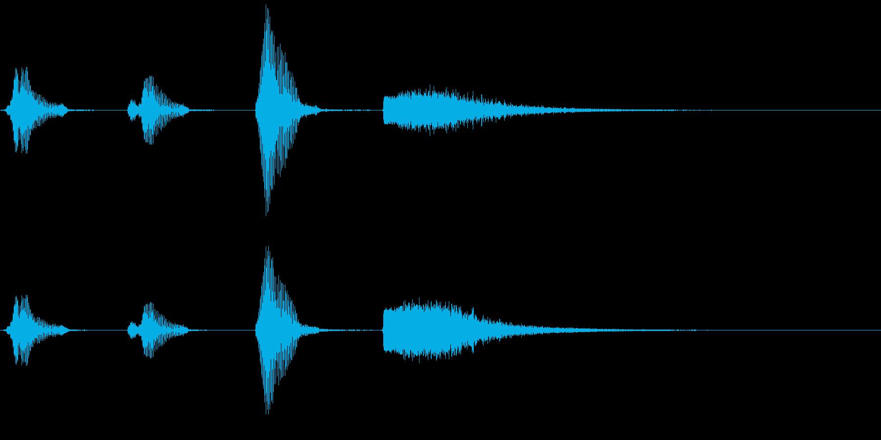カウントダウン~3・2・1・バキューン~の再生済みの波形