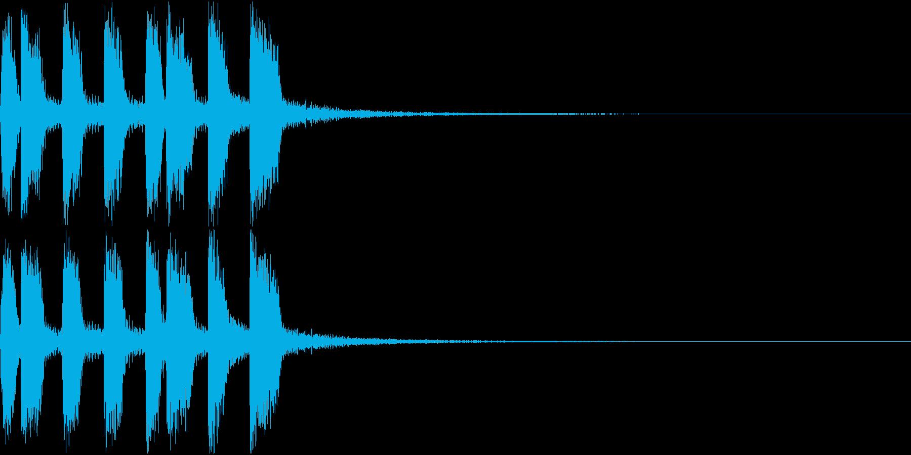 アイテム ファンファーレ ゲット音 3の再生済みの波形