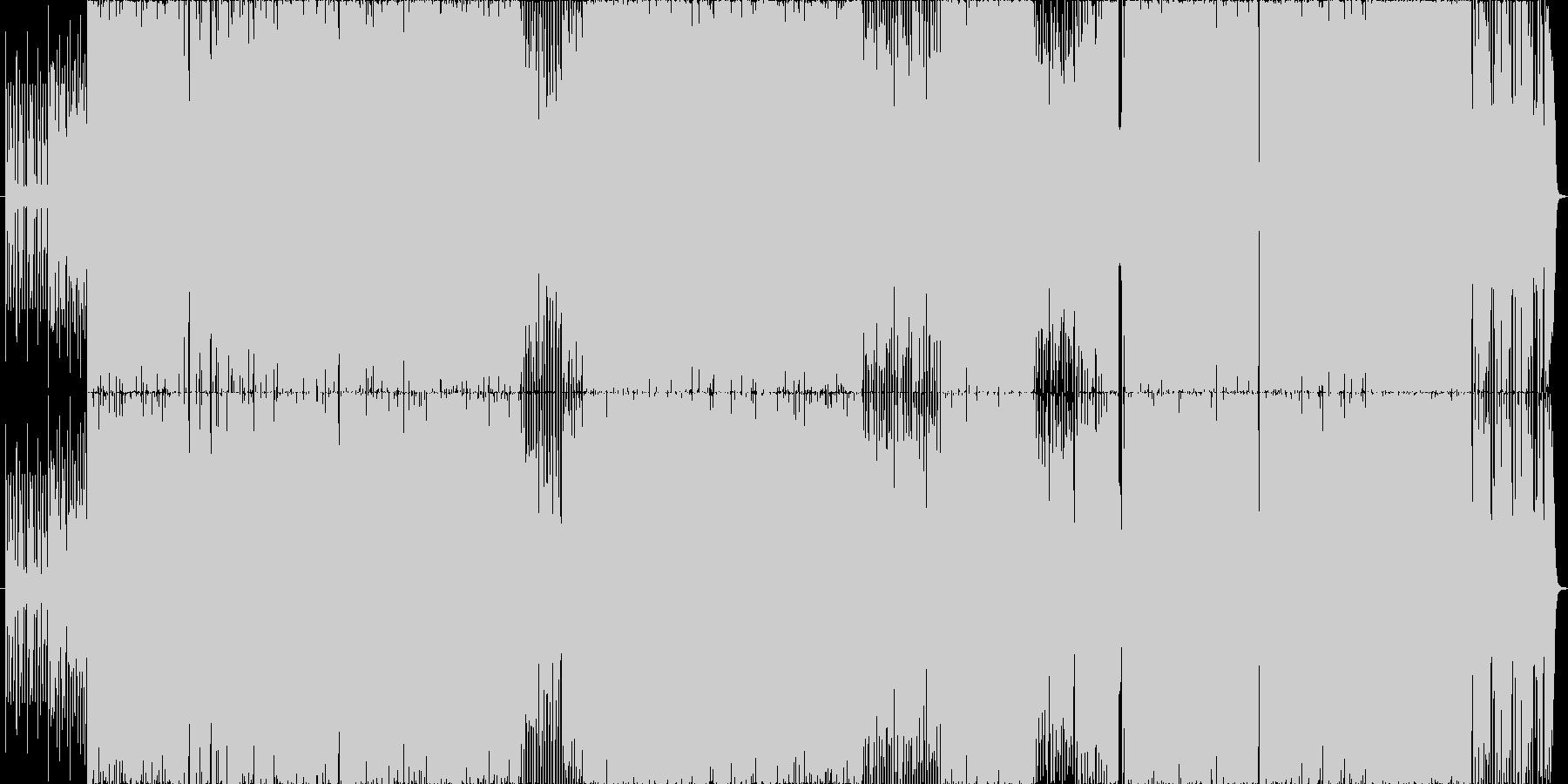 爽やかなEDM風ポップスの未再生の波形