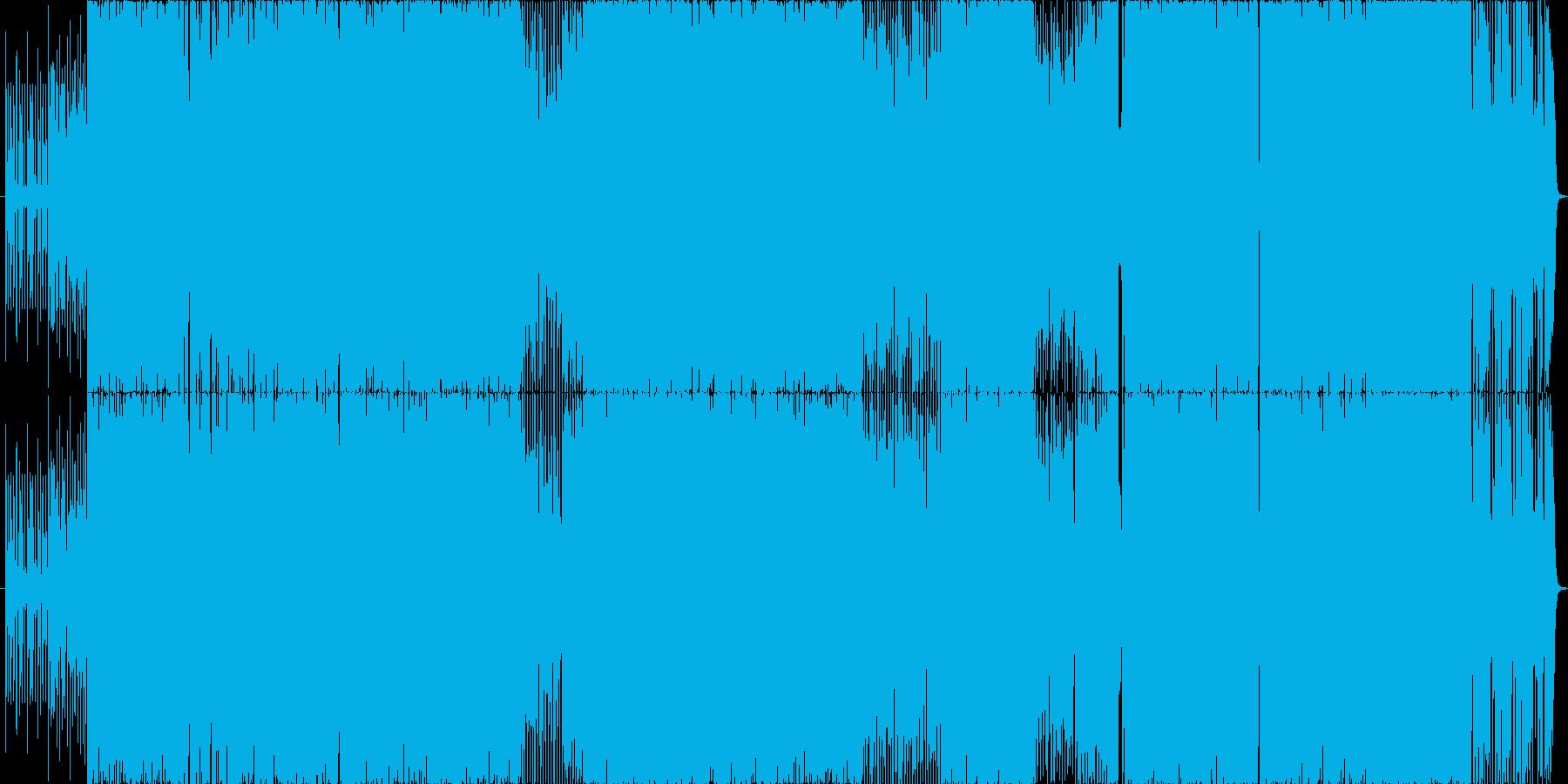 爽やかなEDM風ポップスの再生済みの波形