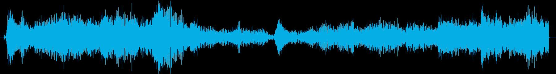 SFっぽくワープする感じの音の再生済みの波形