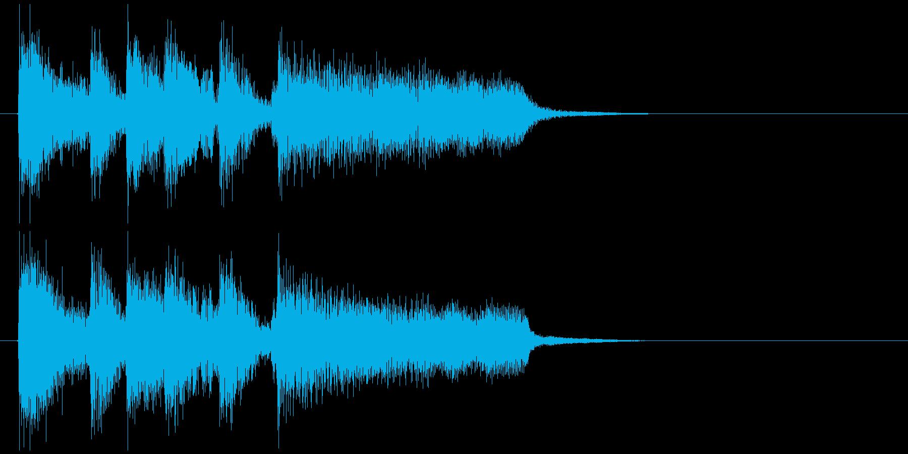 結果発表にブラス、ジャズ系のサウンドロゴの再生済みの波形