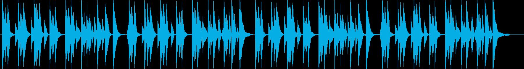 ほのぼの系 ひと休み 日常 アニメ劇伴の再生済みの波形