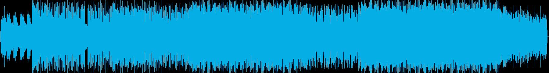 軽快で爽快なビッグビートの再生済みの波形