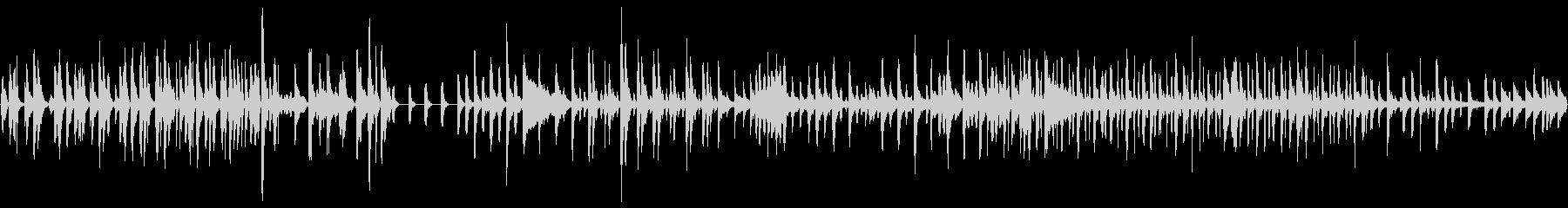 打楽器のBGMの未再生の波形