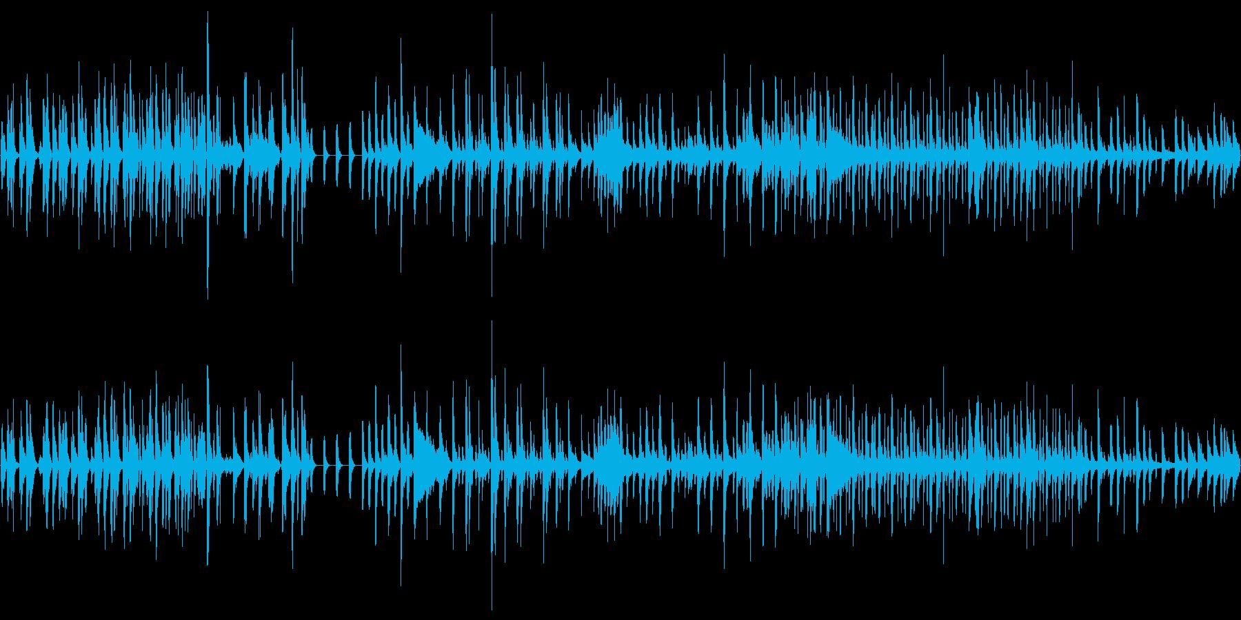 打楽器のBGMの再生済みの波形
