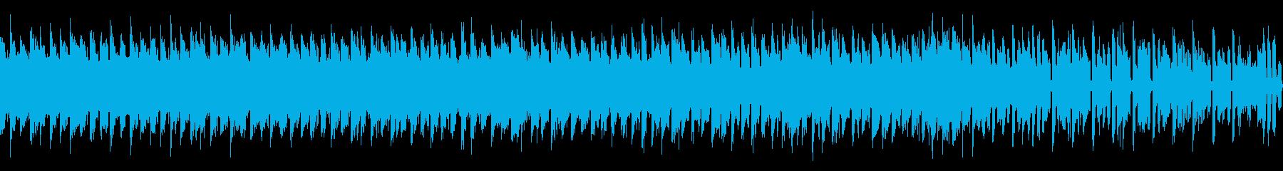 明るく前に進む、祭り、8bitループ曲の再生済みの波形
