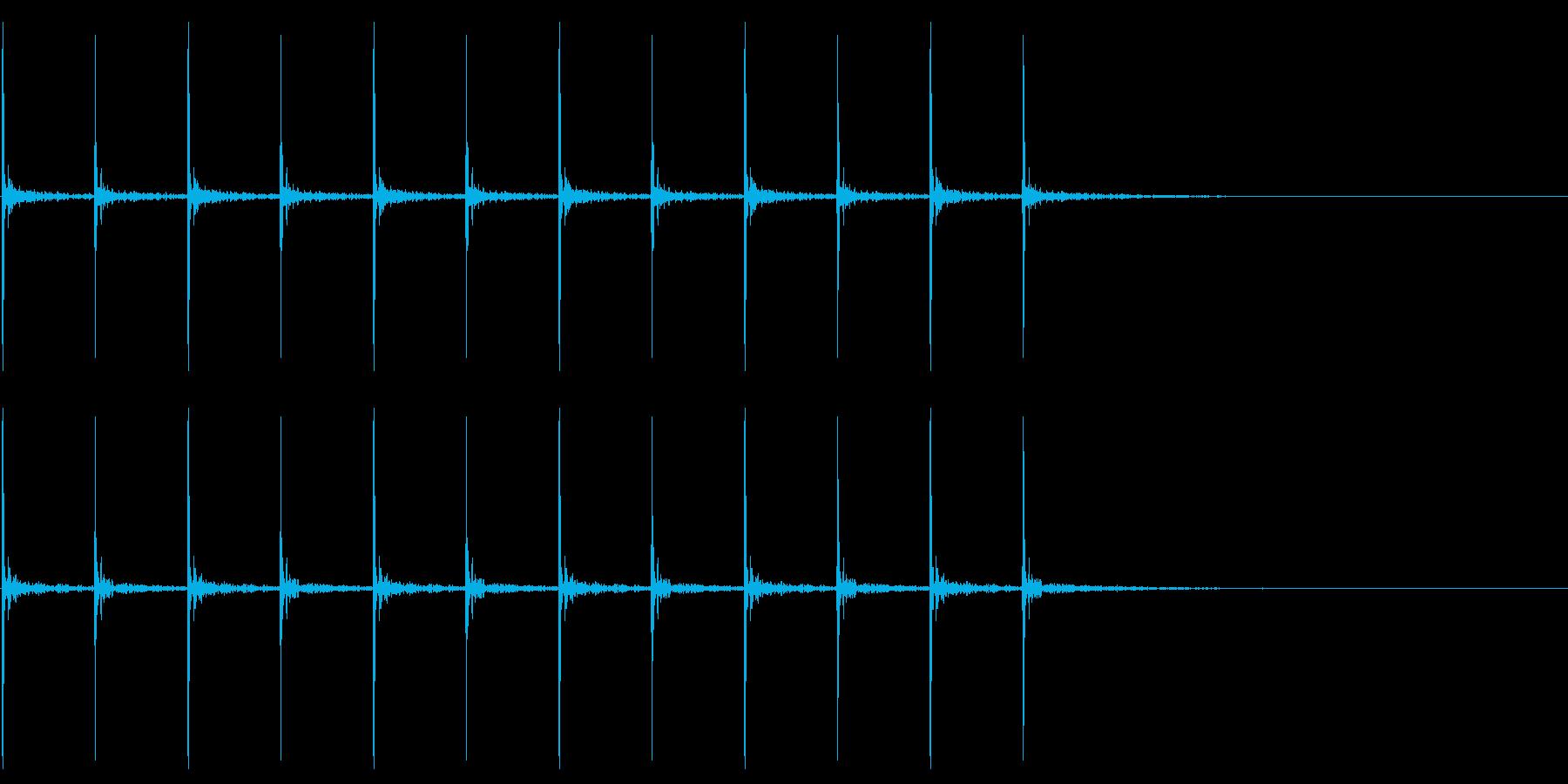 走る足音の再生済みの波形