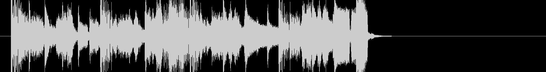 オシャレなビッグバンド風ジャズジングルの未再生の波形
