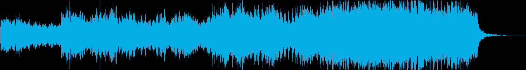 暗いトレイラー的な映像等に最適なBGMの再生済みの波形