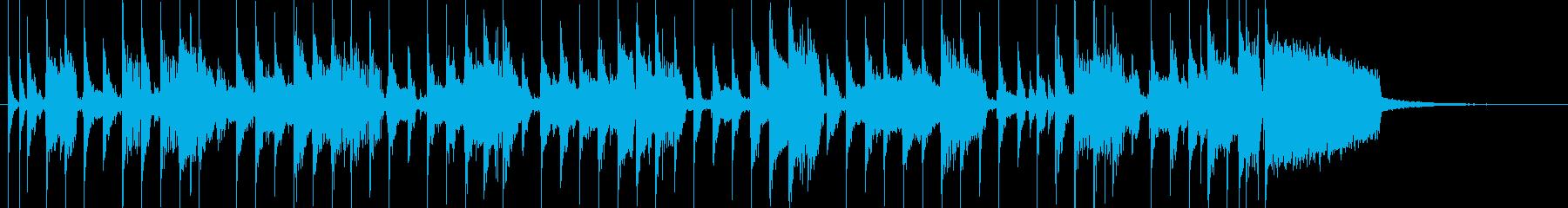 コーナータイトル_秋の散策メロありの再生済みの波形