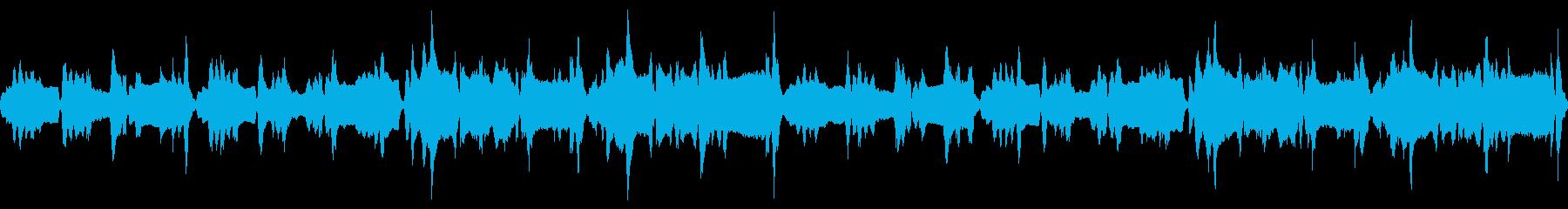 わくわくしながら洞窟を探検・冒険する曲の再生済みの波形