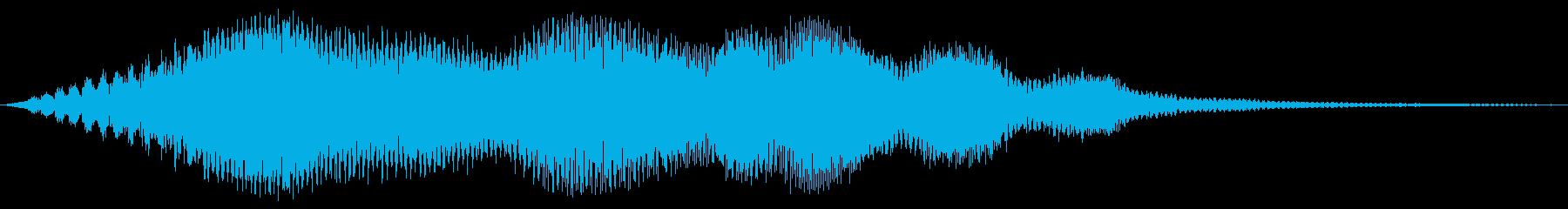 不穏な雰囲気の再生済みの波形