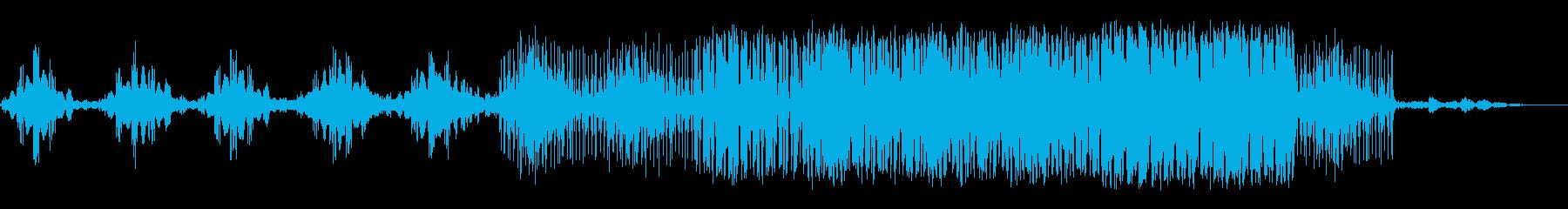 わくわく系エレクトロニカロックビートの再生済みの波形