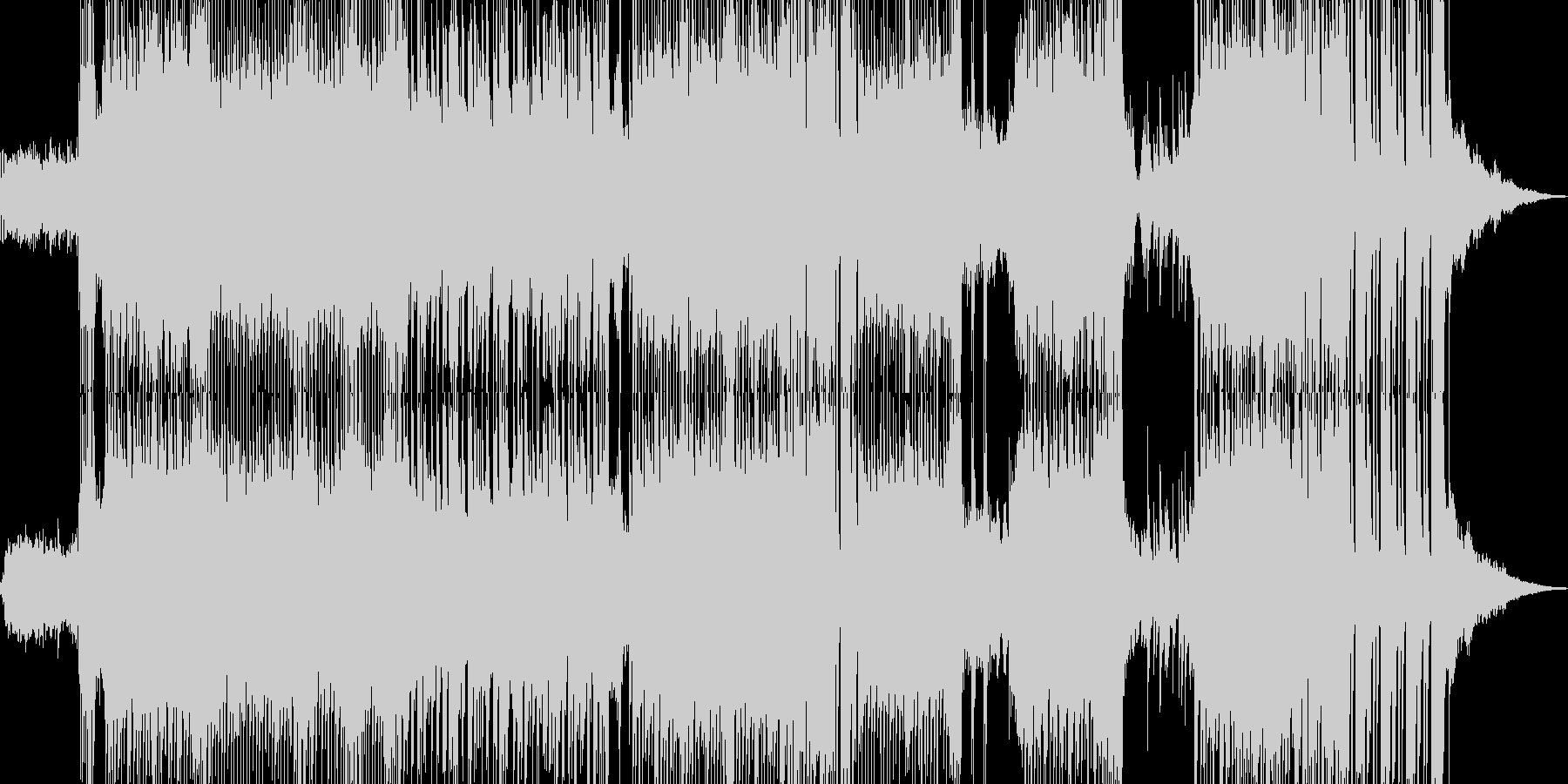 ハッピーな演出を彩るテクノ ★の未再生の波形