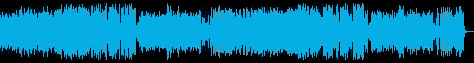 アップテンポでポップでダークな音楽の再生済みの波形