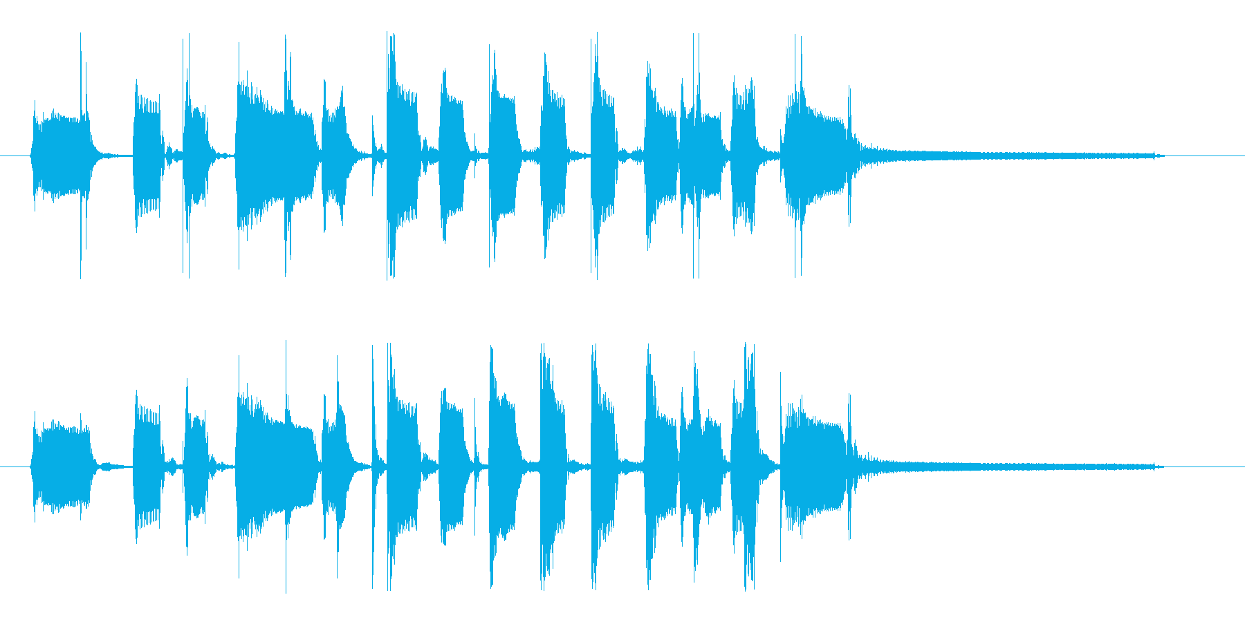 グルーヴィ&ファンキーなベースのロゴの再生済みの波形