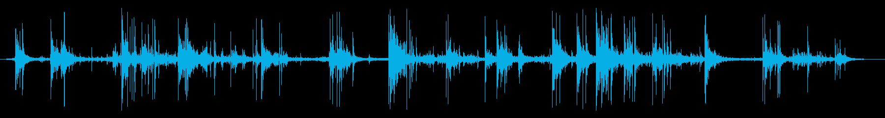 サッカー2の再生済みの波形