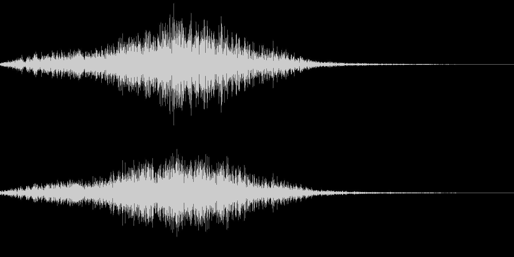 ニホンザルの鳴き声(キシャーッ)の未再生の波形