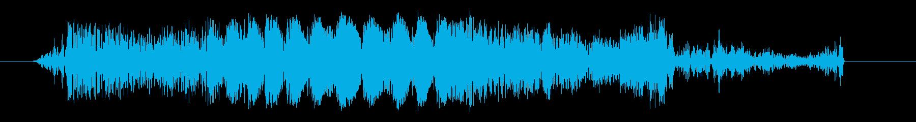 クイックガーブルカットトランジション1の再生済みの波形