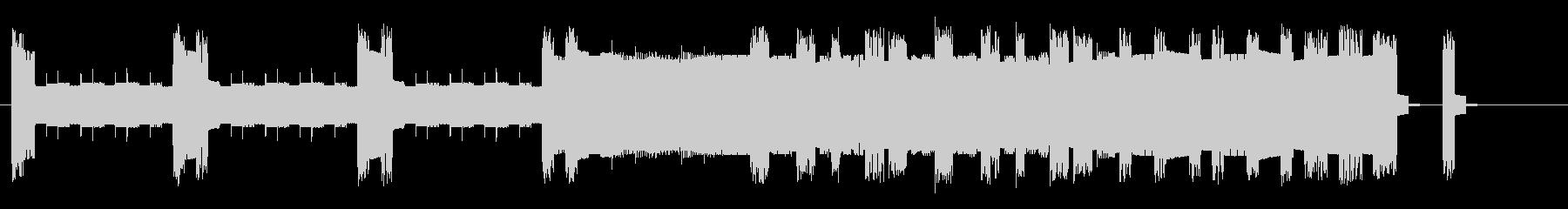 8bit音の12秒ジングルの未再生の波形