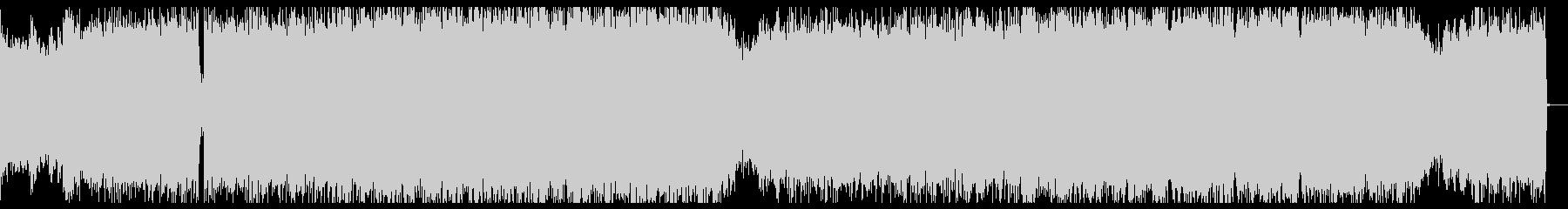 緊迫感あるデジタルロックとバイオリンの未再生の波形