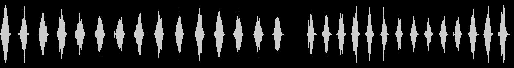 粗いファイル、1回のストローク、2...の未再生の波形
