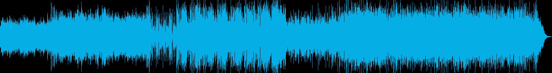 哀愁系BGMの再生済みの波形