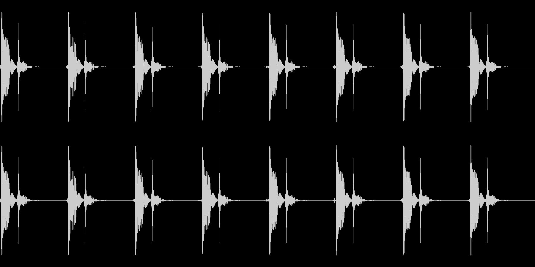 心臓の鼓動_上昇_心拍数86の未再生の波形