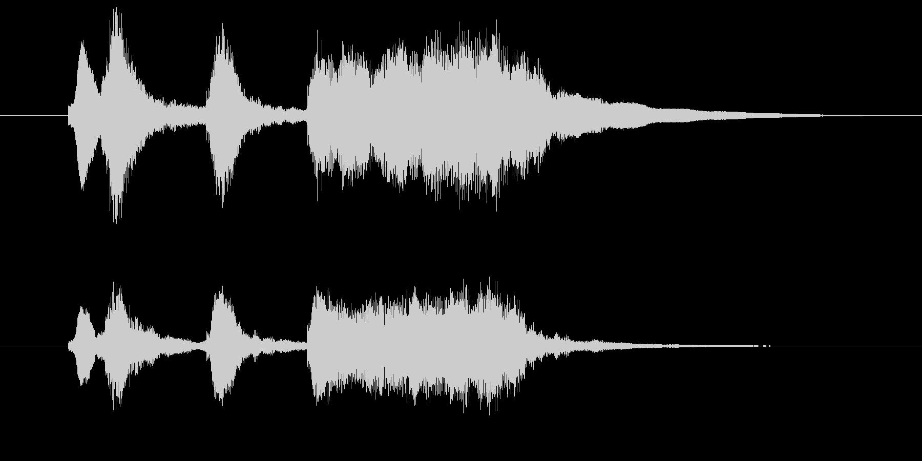 軽いオーケストラ風の喜びジングル1の未再生の波形