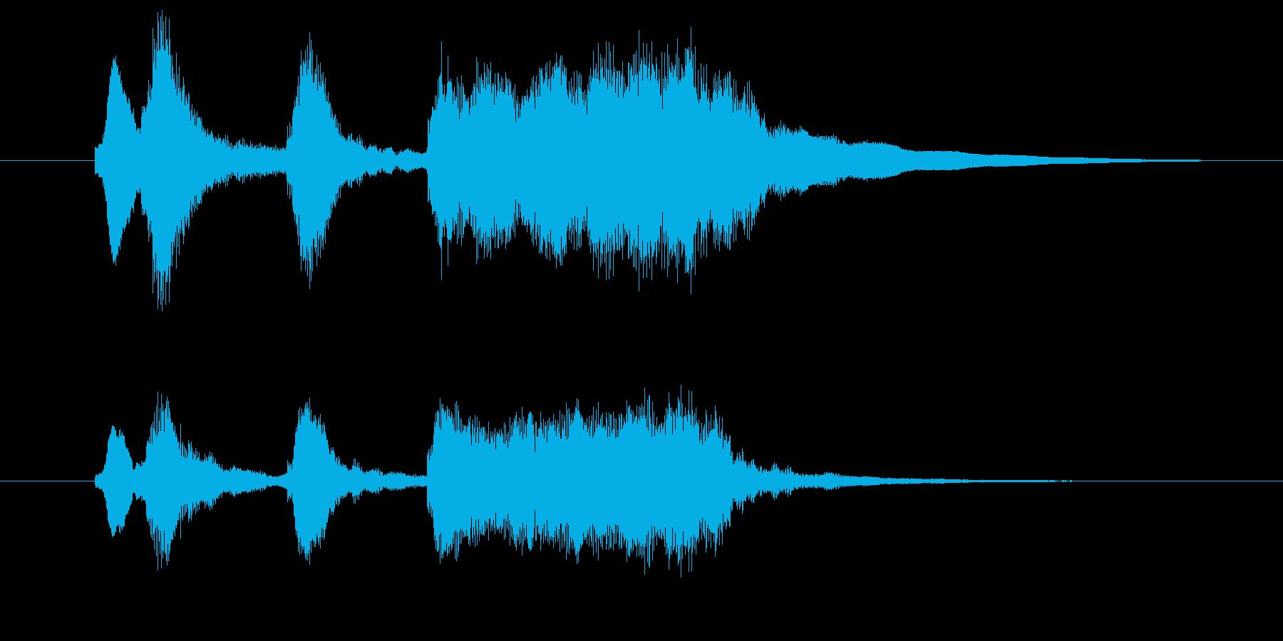 軽いオーケストラ風の喜びジングル1の再生済みの波形