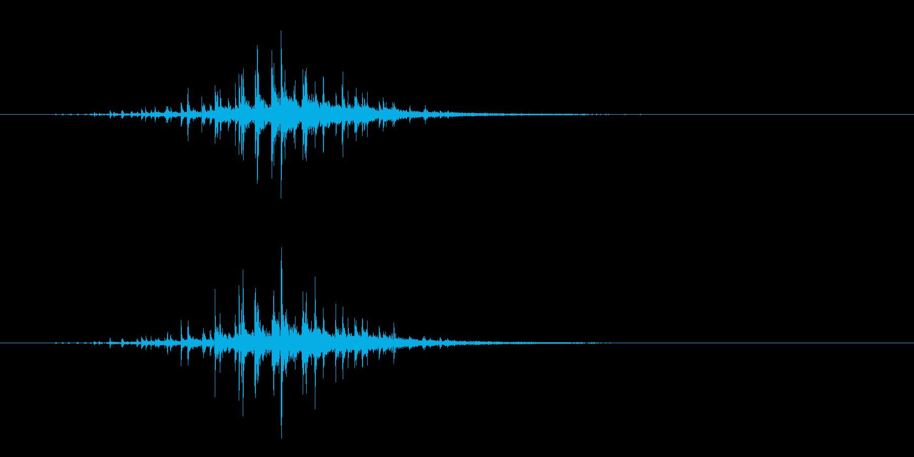 ジャラ…!スティック同士叩く連打音+FXの再生済みの波形