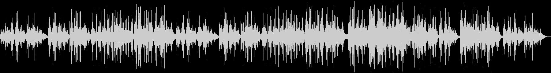 穏やかハープとチェレスタのゆったり癒し曲の未再生の波形