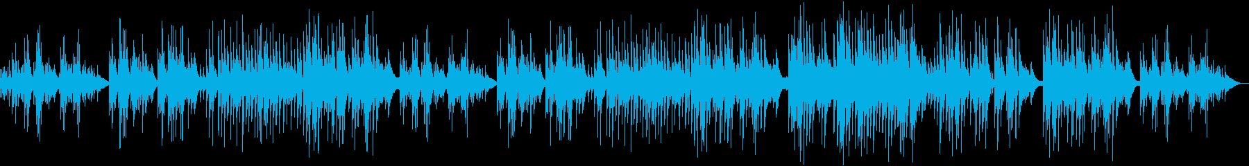 穏やかハープとチェレスタのゆったり癒し曲の再生済みの波形