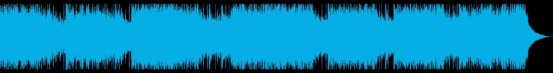 パーカッション入りミステリアスなBGMの再生済みの波形