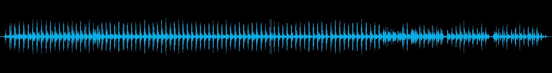西会津町 - 伝統産業 舟水を混ぜる音の再生済みの波形