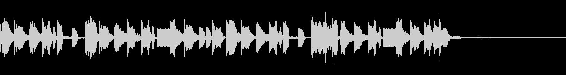 ヒップホップなジングルの未再生の波形