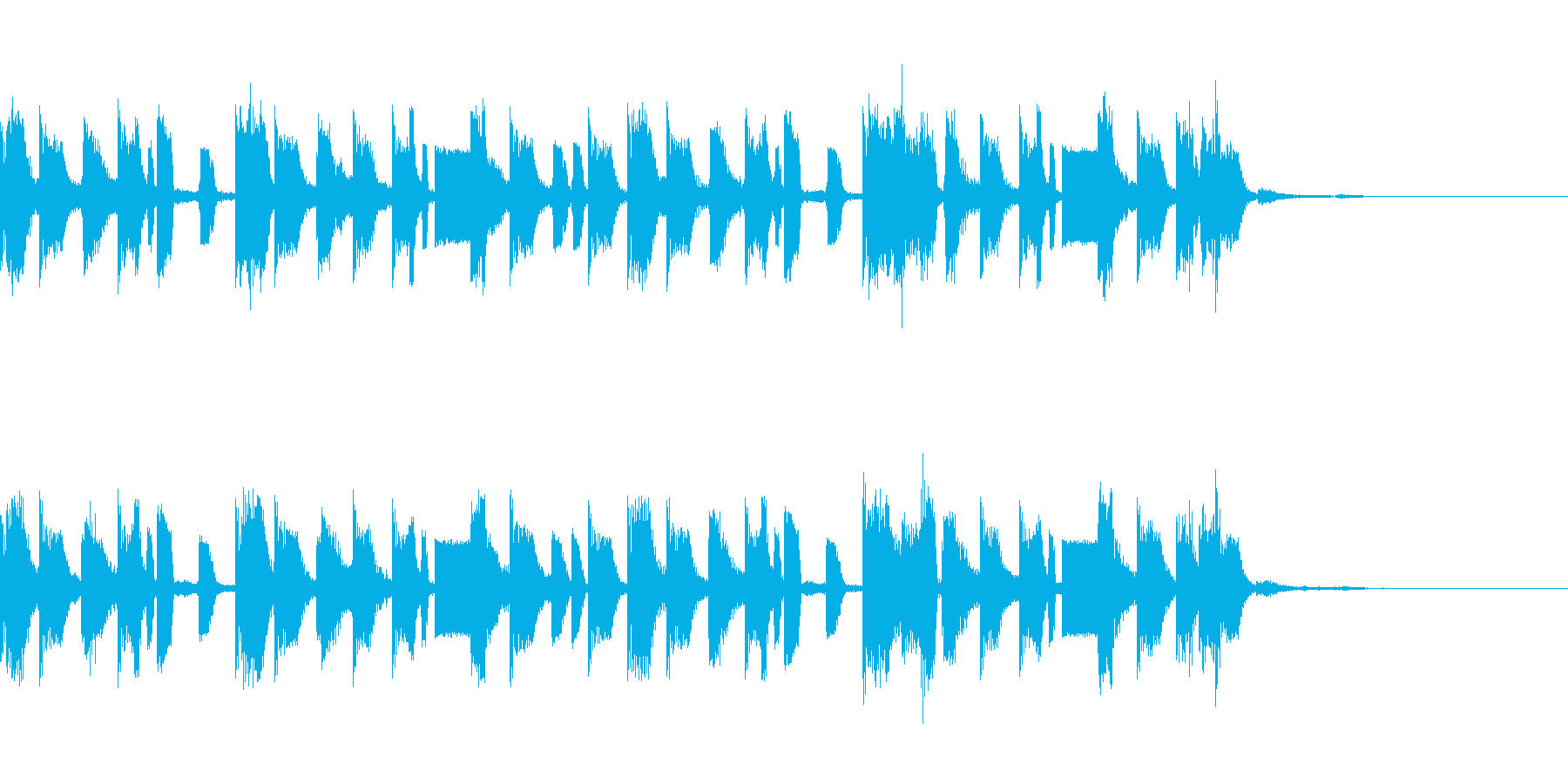 ヒップホップなジングルの再生済みの波形