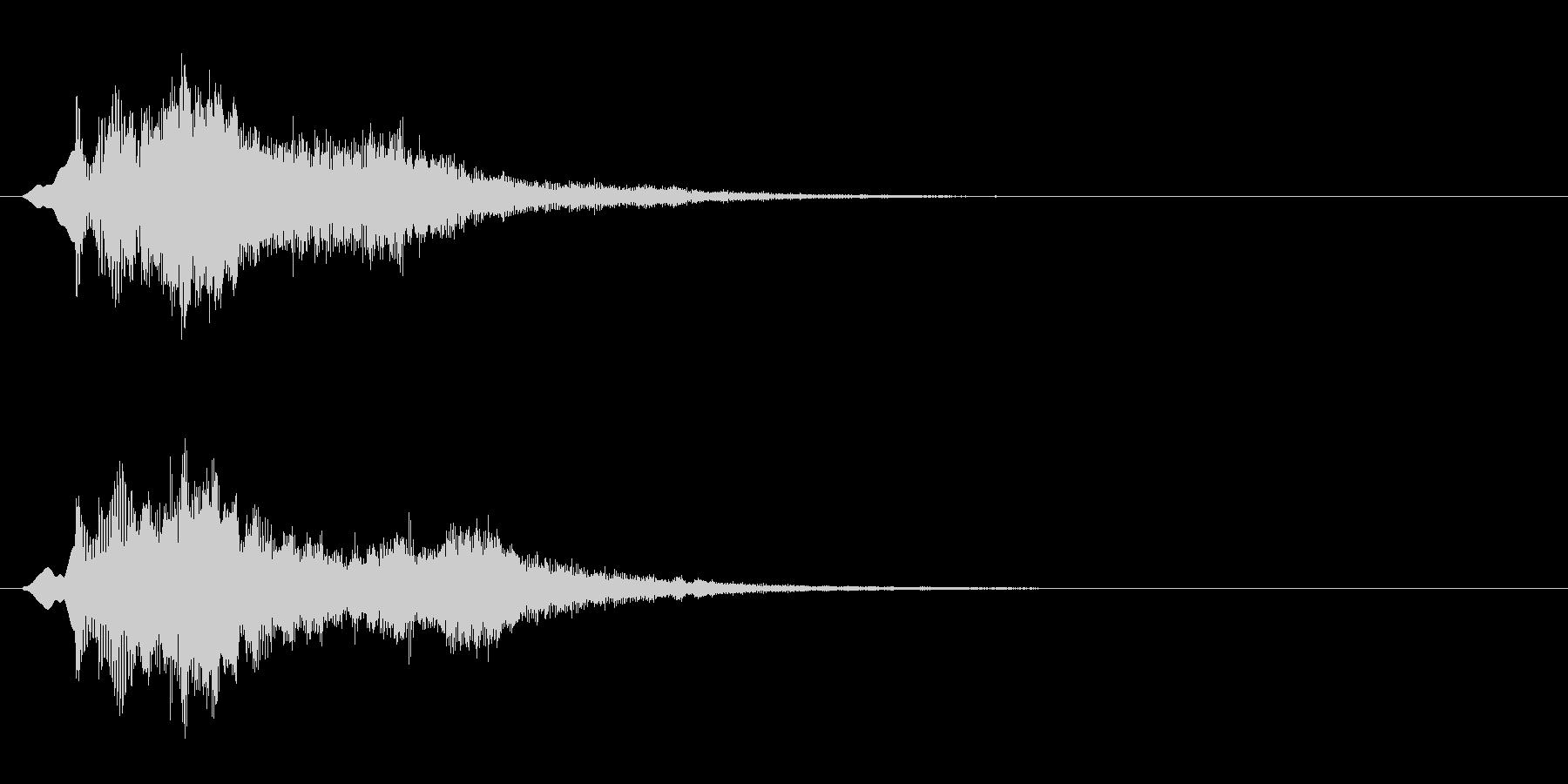 キラキラ(魔法のようなエフェクト音)の未再生の波形