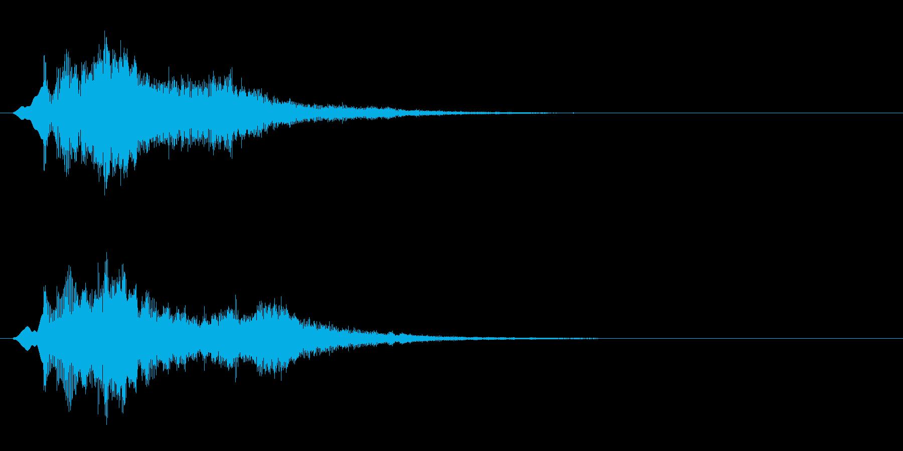 キラキラ(魔法のようなエフェクト音)の再生済みの波形