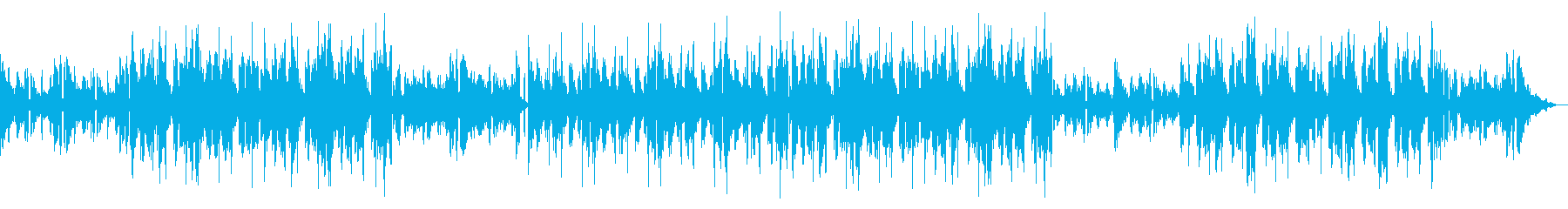 ドラムの音量を下げたバージョンの再生済みの波形