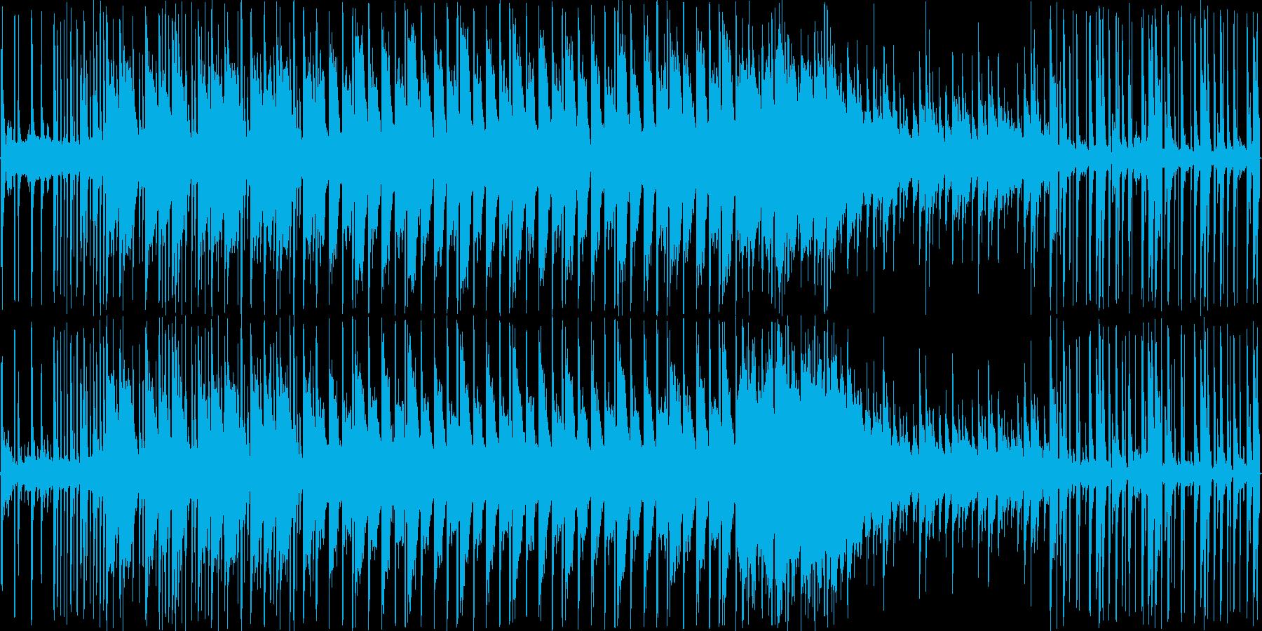 アンビエント+テクノみたいな曲調です。の再生済みの波形